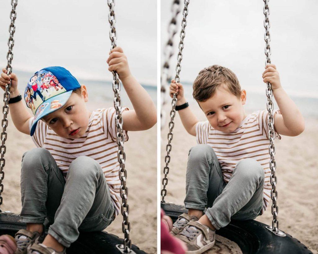 Kinderfotos am Strand